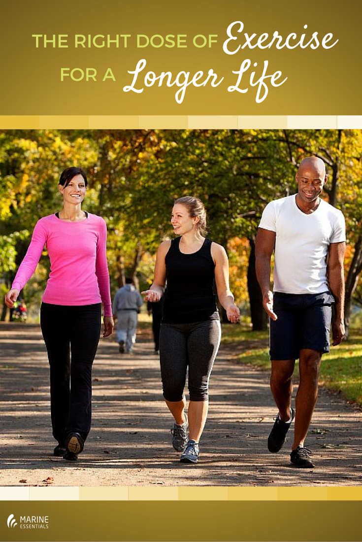 The Right Dose of Exercise for a Longer
