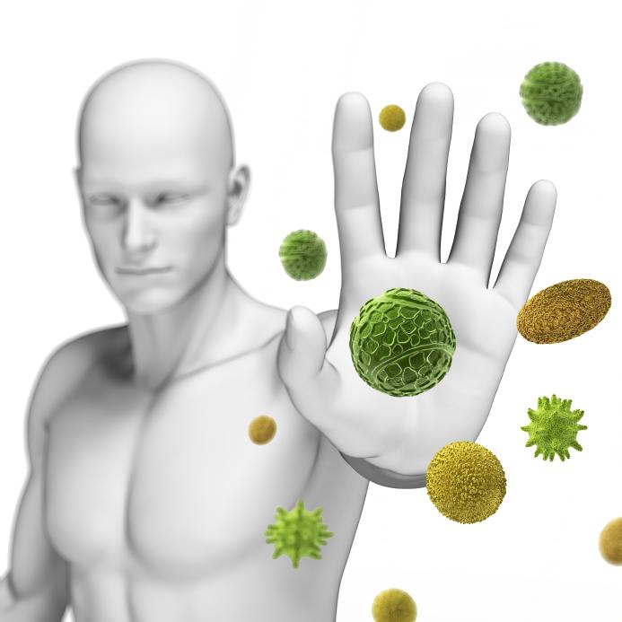 3d rendered illustration defending some pollen
