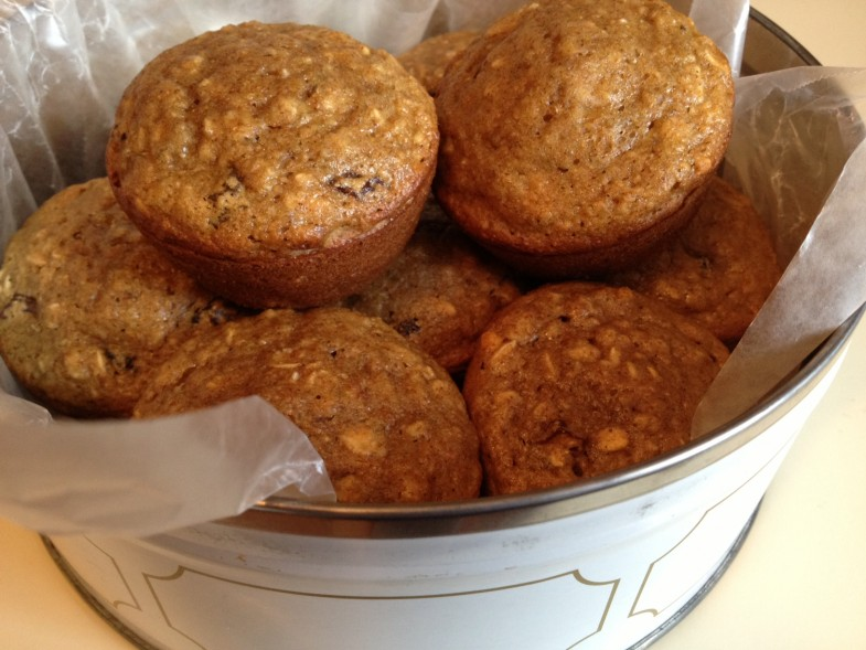 Oatmeal-Raisin-Muffins
