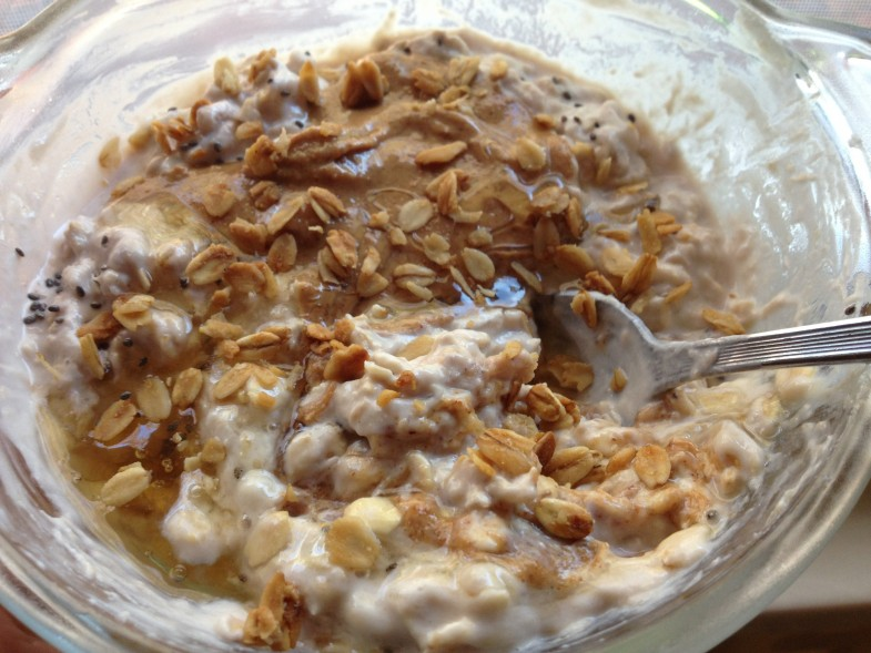 Overnight-Oats-with-honey-and-peanutbutter