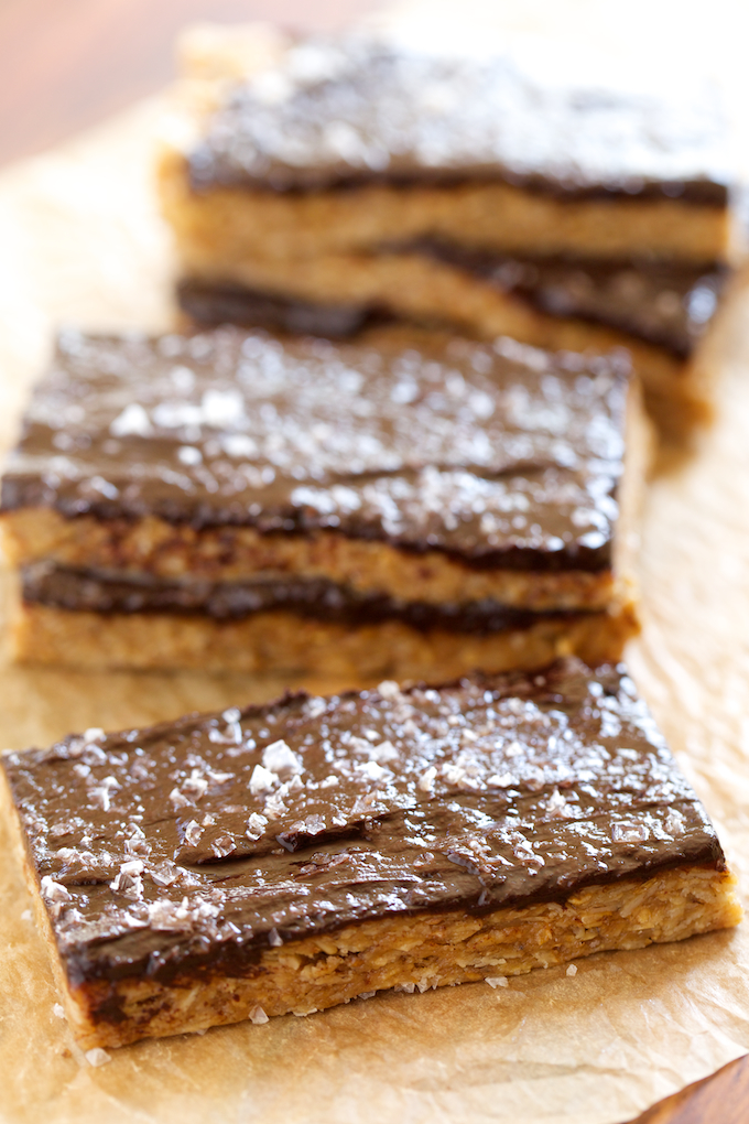 Peanut-Butter-Granola-Bars-with-Salted-Chocolate-Frosting-GI-365-3